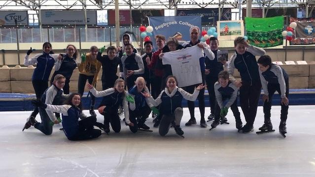 Segbroek College schaatst 1500 euro bij elkaar
